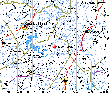 Casey Creek, KY map