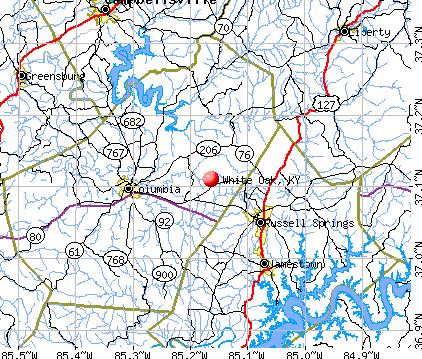 White Oak, KY map