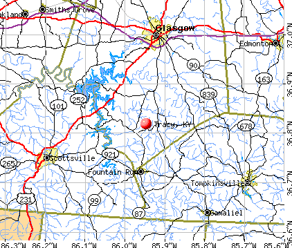 Tracy, KY map