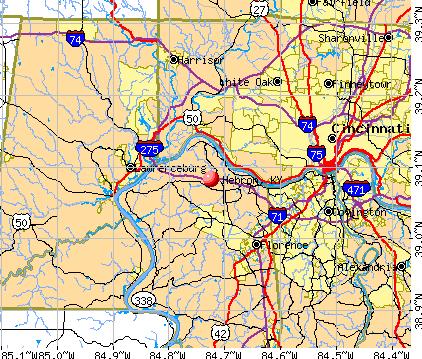 Hebron, KY map