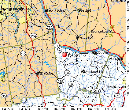 Foster, KY map