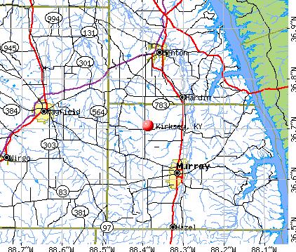 Kirksey, KY map