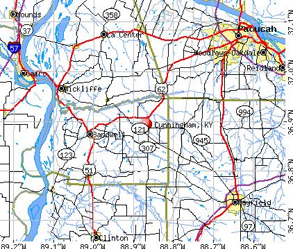 Cunningham, KY map