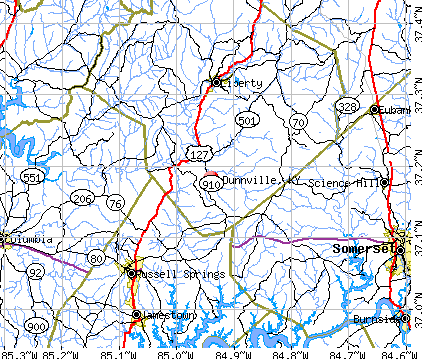 Dunnville, KY map