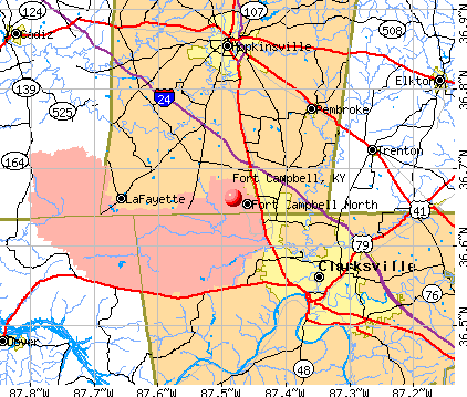 Fort Campbell, KY map