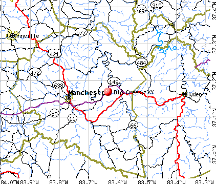 Big Creek, KY map