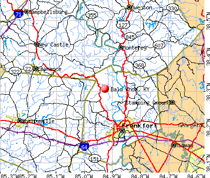Bald Knob, KY map