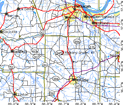 Hickory Grove, KY map