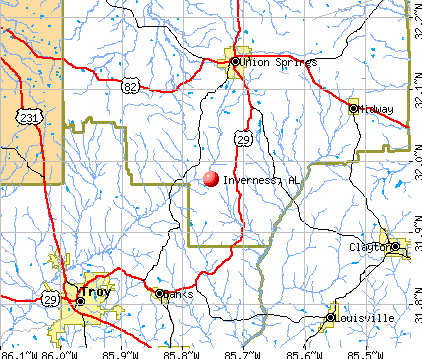 Inverness, AL map