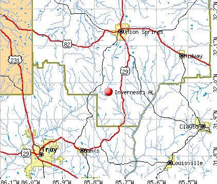 Inverness, AL map