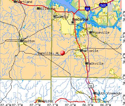 Danville, AL map