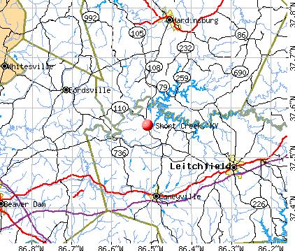 Short Creek, KY map