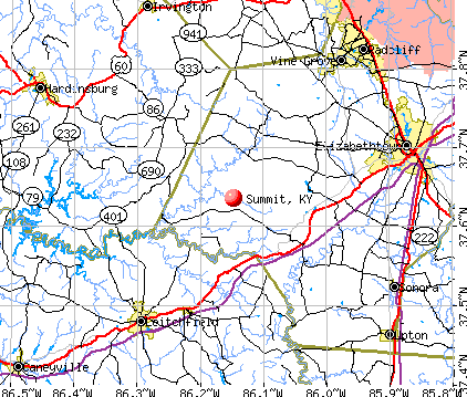 Summit, KY map