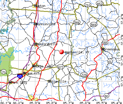 Hardyville, KY map