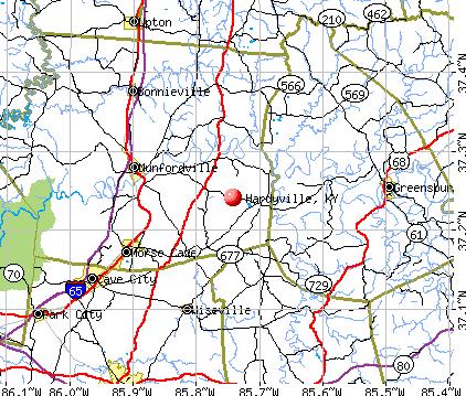 Hardyville, KY map