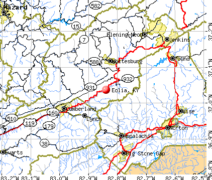 Eolia, KY map