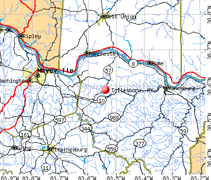 Tollesboro, KY map