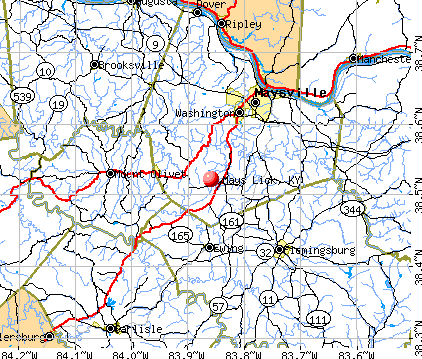 Mays Lick, KY map