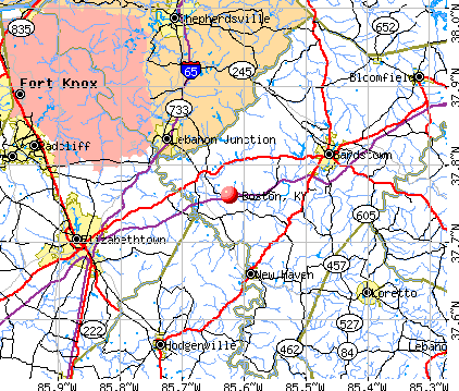 Boston, KY map