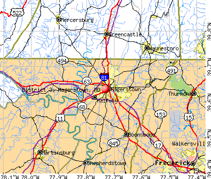 District 3, Hagerstown, MD map. General Map; Google Map; MSN Map