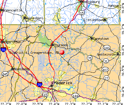 District 4, Creagerstown, MD map