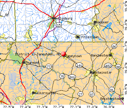 District 1, Taneytown, MD map