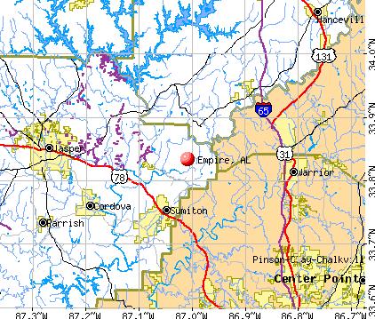 Empire, AL map