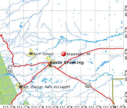 Blackfeet, MT map