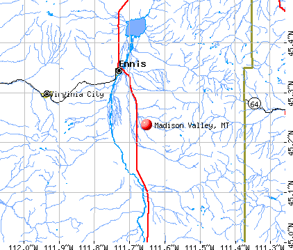 Madison Valley, MT map