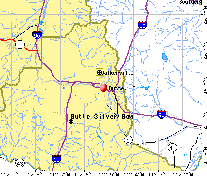 Butte, MT map