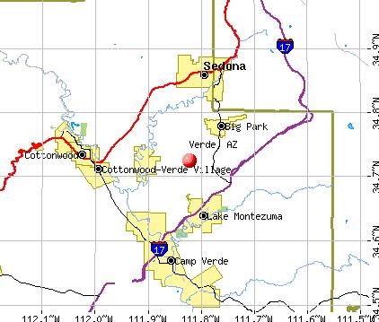 Verde, AZ map