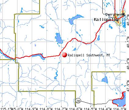 Kalispell Southwest, Montana (MT) profile: population, maps