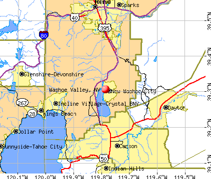 Washoe Valley, NV map