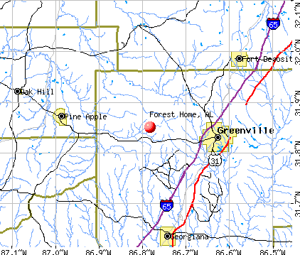 Forest Home, AL map