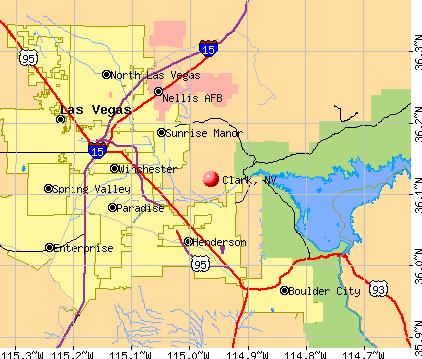 Clark, NV map