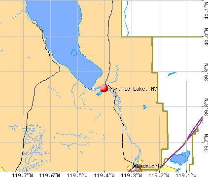Pyramid Lake, NV map