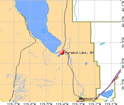 Pyramid Lake, NV map