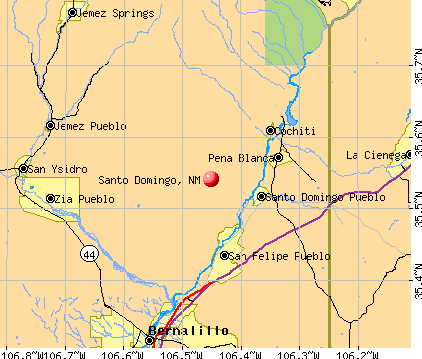 Santo Domingo, NM map