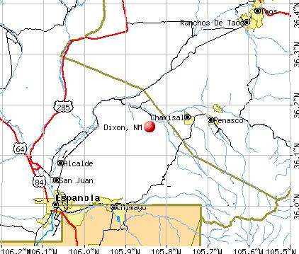 Dixon, NM map