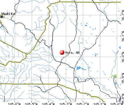 Mora, NM map
