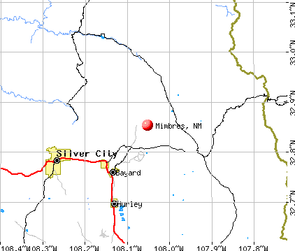 Mimbres, NM map