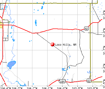 Loco Hills, NM map