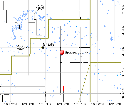 Broadview, NM map