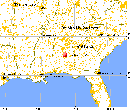 Marbury, Alabama map