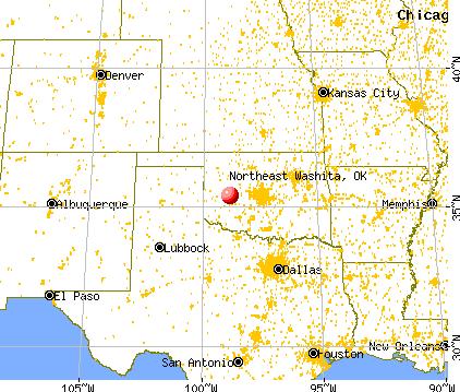 Northeast Washita Oklahoma Ok 73024 Profile Population Maps