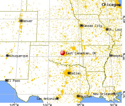East Canadian, Oklahoma map