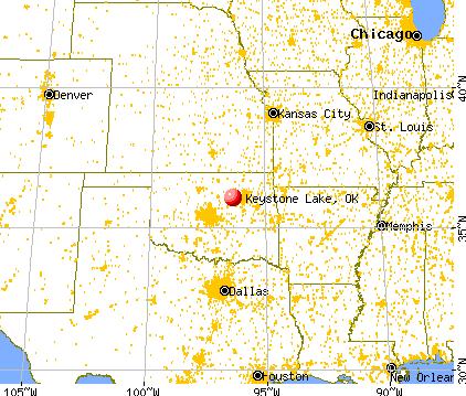 Keystone Lake Oklahoma OK Profile Population Maps Real - Oklahoma lake map