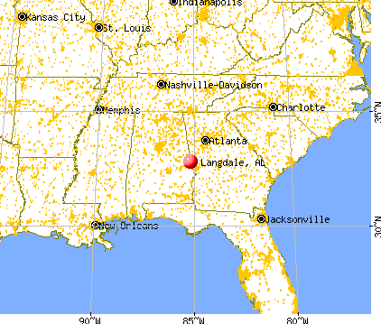 Langdale, Alabama map