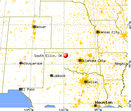 South Ellis, Oklahoma map