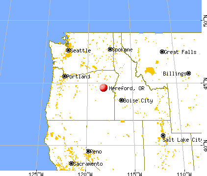 Hereford Oregon OR 97814 profile population maps real estate